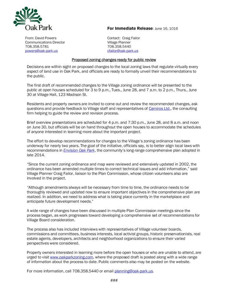 Press Release 06132016